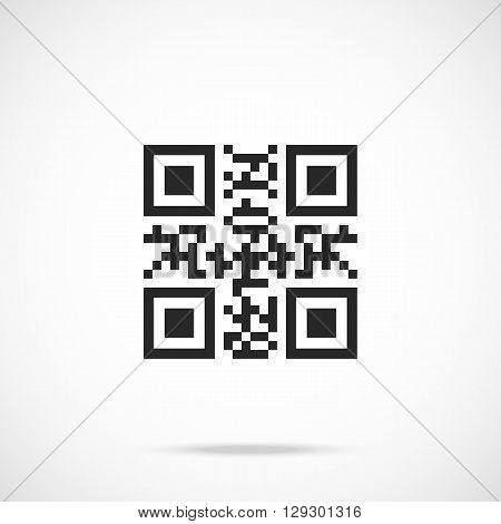 QR code flat icon. Modern vector illustration