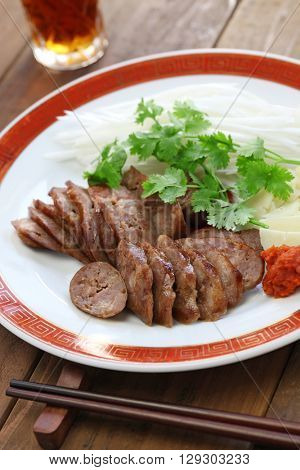 homemade xiang chang, taiwanese sweet pork sausage