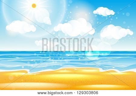 Sea of karon beach Thailand. Sea beach with waves blue sky and white sand. Beautiful sea wave. Empty sea beach. Sea waves. Colorful sea. Sea waves near beach. Beautiful sea beach. Sea beach. Warm sea vector art