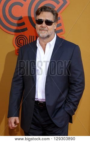 Russell Crowe at the Los Angeles premiere of 'The Nice Guys' held at the TCL Chinese Theatre in Hollywood, USA on May 10, 2016.