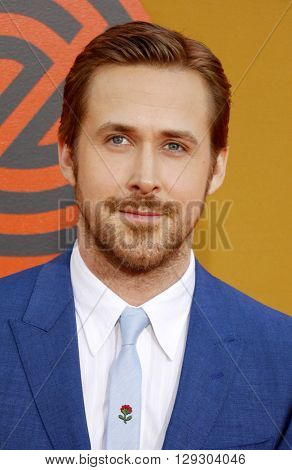 Ryan Gosling at the Los Angeles premiere of 'The Nice Guys' held at the TCL Chinese Theatre in Hollywood, USA on May 10, 2016.
