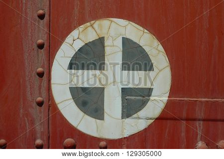 a picture of an exterior 1920's train box car wall
