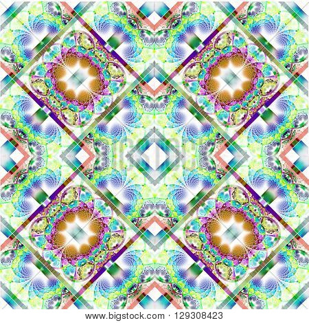 Fabulous diagonal fractal pattern with shiny strips. Collection - rhinestones. Artwork for creative design art and entertainment.