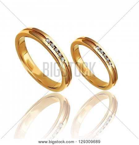 Best wedding and engagement ring, 3D illustration