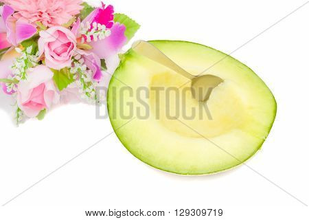 fresh cantaloupe melon with bouquet of flowers ready to eat