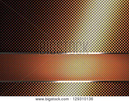 3d image of geometric metal plate