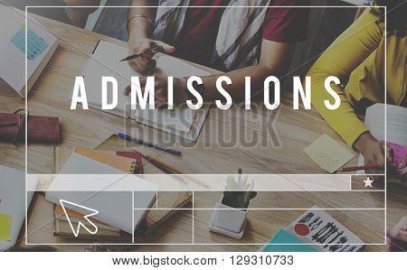Admissions Education Knowledge Wisdom School Concept