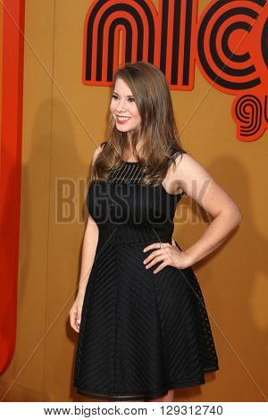 LOS ANGELES - MAY 10:  Bindi Irwin at the The Nice Guys Premiere at the TCL Chinese Theater IMAX on May 10, 2016 in Los Angeles, CA