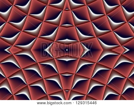 Symmetrical fractal pattern. Collection - cells. Artwork for creative design art and entertainment