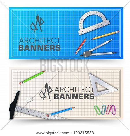 Architectural Background. Vector Illustration, Eps10, Contains