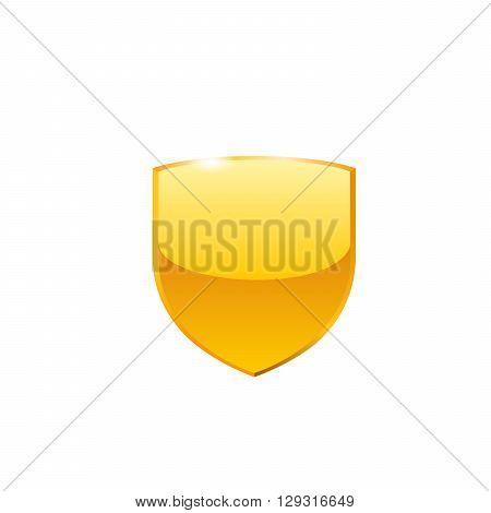Shield icon. Vector illustration on white bakground.