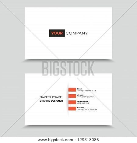 Clean Visit Card Design with light shadow.