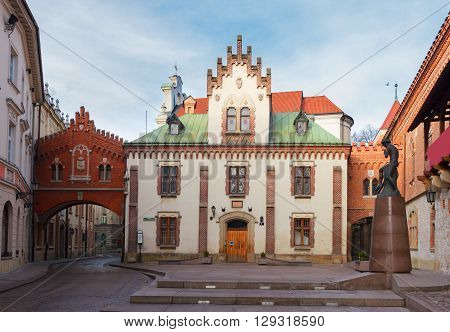 Czartoryski Museum and Library in old town of Krakow, Poland