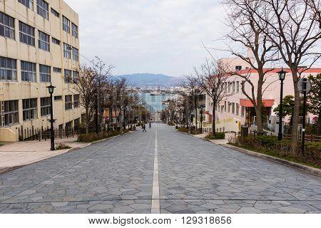 Hakodate, Hachiman Zaka Slope At Motomachi