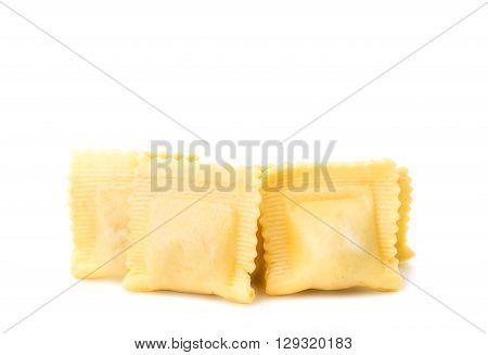 ravioli isolated on white background sprig, cuisine