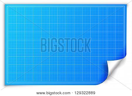Architect Blueprint Paper Background Concept. Vector Illustratio