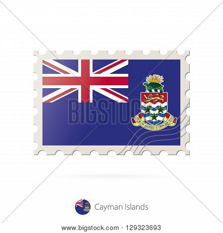 Postage Stamp With The Image Of Cayman Islands Flag.