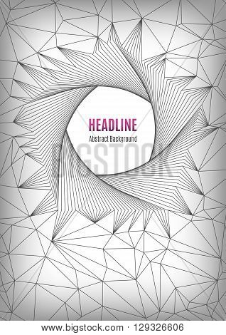 Geometric polygonal posters A4, future technology concept, pentagon line art design, shapes 3d. Typography abstract background for banners, web site, presentations, brochures, flyers, business cards