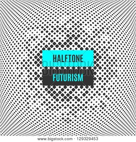 Futuristic technology style halftone dot design template. Modern graphic design of the points. Template covers, banners, posters, flyers, leaflets, presentations, web