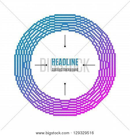 Halftone dot pattern background, Modern round frame with dots, Colorful colors: pink, blue, magenta, pink. The concept for: brochures flyers catalogs presentations covers posters labels tags