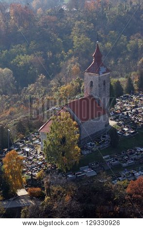 VUGROVEC, CROATIA - NOVEMBER 07: Church of Saint Michael in Vugrovec, Croatia on November 07, 2007