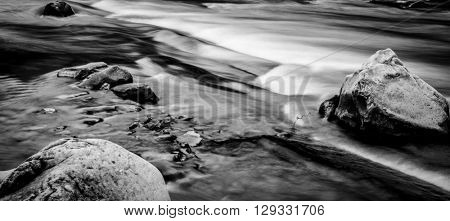 beautiful landscape with mountain river