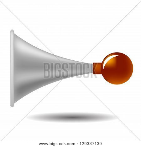 Old Horn Icon Isolated on White Background
