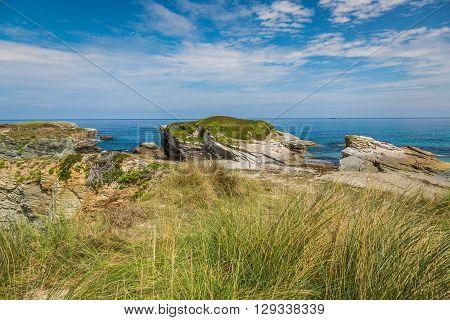 Rocky coast of Spain. Galicia  Europe .