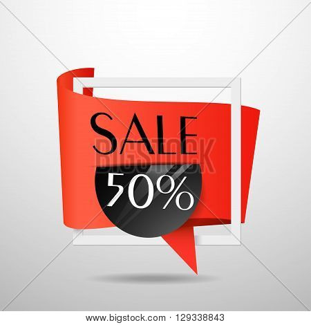 Sale Banner Template Design. Label Vector.