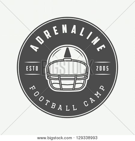 Vintage rugby and american football labels emblems and logo. Vector illustration