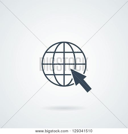 Isolated Web Icon Vector illustration with a shadow