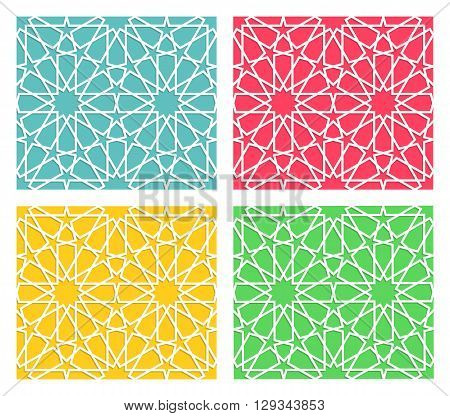 Traditional islamic pattern. Arabian geometric pattern. Vector islam illustration.