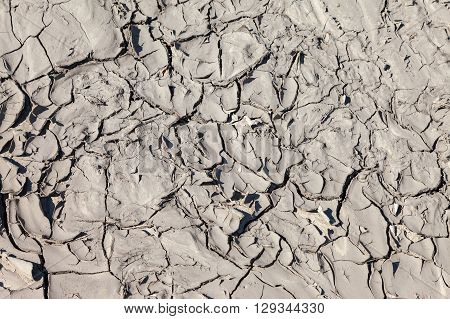 Ground surface with cracked as the background