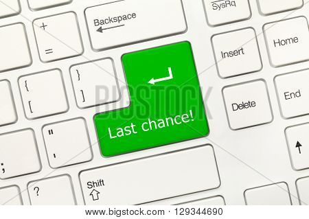 White Conceptual Keyboard - Last Chance (green Key)
