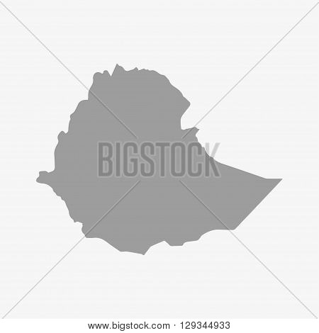 Map of Ethiopia in gray on a white background
