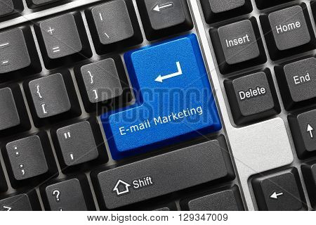 Conceptual Keyboard - E-mail Marketing (blue Key)