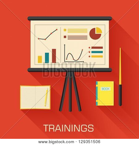 Training Concept Design. Analytics Business Desk Infographic Wit