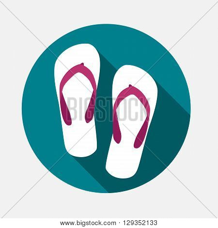 Beach Flip Flop Icon Vector Illustration EPS10