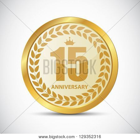 Template Logo 15 Years Anniversary Vector Illustration EPS10