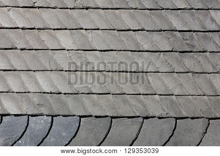 Detail of Slate cladding on a house. Germany
