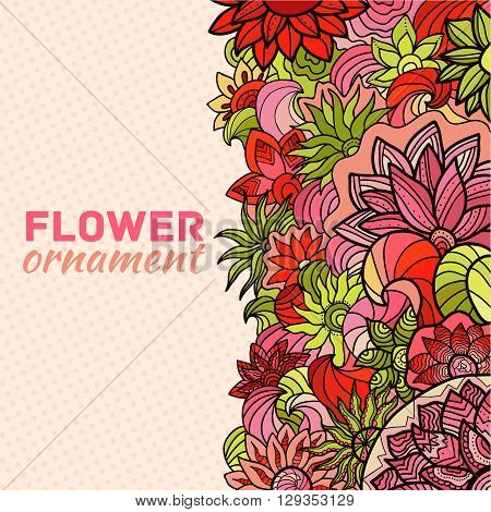 Abstract Ornament Flower Background Concept. Illustratio