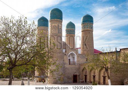 Uzbekistan Bukhara the Char Minar (four minarets) mosque and madrassah