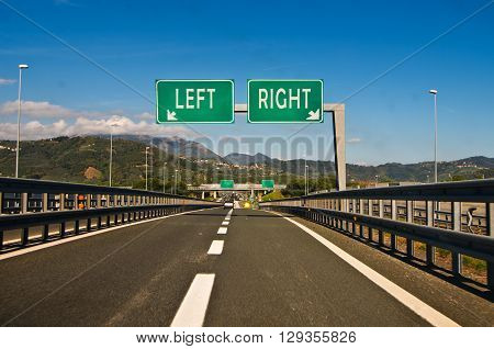 the difficult moment of choice go right or go left