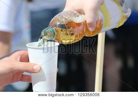 Fill up the Cup on Marathon Event. Germany