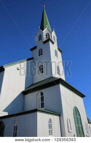 The Free Church in Reykjavik. Iceland. Scandinavia