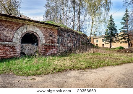 Ruins of old bastion in Daugavpils town, Latvia