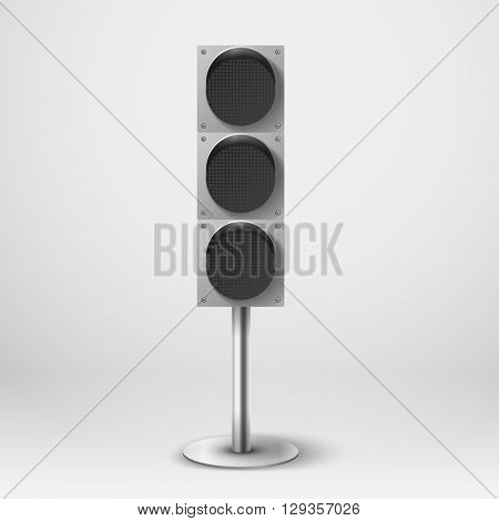 Traffic light vector illustration. Diod traffic light. Template for design