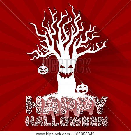 Halloween Time Background Concept. Vector Illustration Design