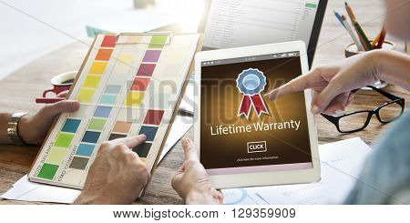 Lifetime Warranty Prize Condition Guarantee Concept