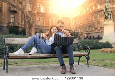 Couple at the park